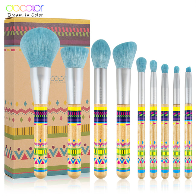 Docolor 9Pcs Makeup brushes Professional Beauty Make up brush set Synthetic hair Foundation Powder Eye Shadow Blush brushes