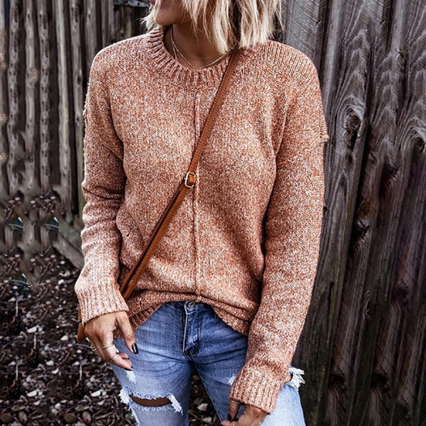 Loose Autumn Casual Round Neck Women Sweater