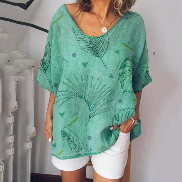 Casual Printed Short Sleeve T-shirt