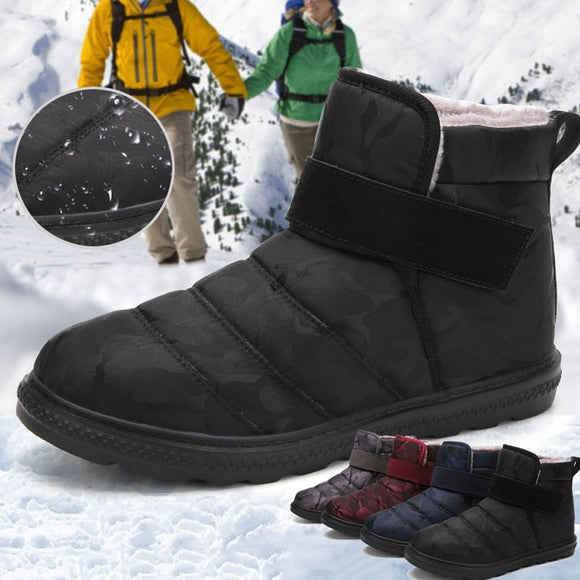 Womens Slip on Ankle Booties Anti-Slip Water Resistant Snow Boots