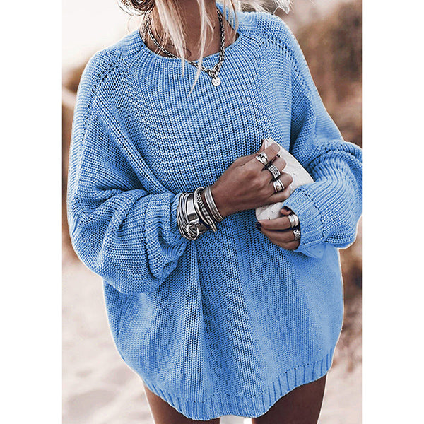 Women Loose Sweater Casual Long Sleeve Pullovers Blouse