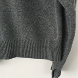 Irregular Slanted Knit Sweater Cardigan Coat