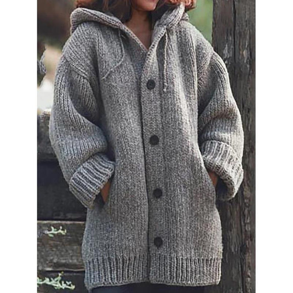 Hooded Plus Size Cardigan Sweater Coats