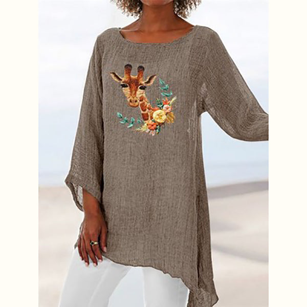 Casual Printed Long Sleeve Loose T-Shirts