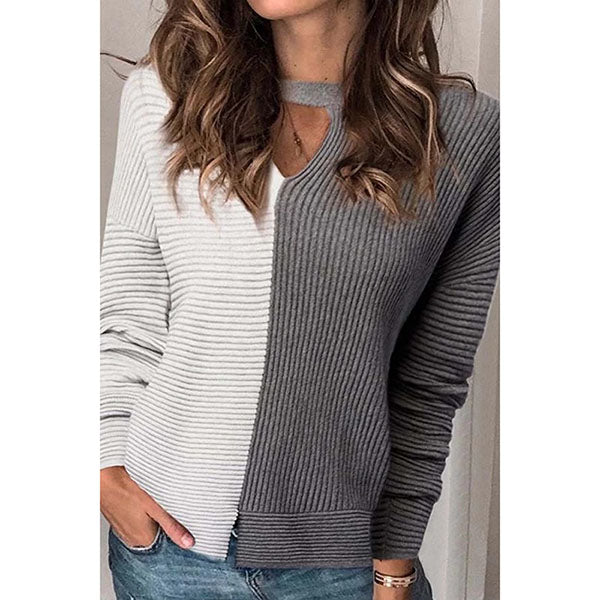 Lovely Long Sleeve V Neck Casual Wear Sweater