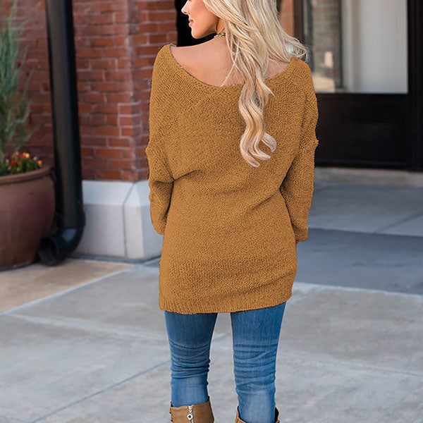 Asymmetric Casual Long Sleeve Sweaters