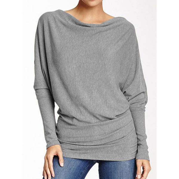 Pure Color Casual Tie Loose Women's Top T-shirt
