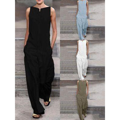 Fashion Plain Comfy Jumpsuits