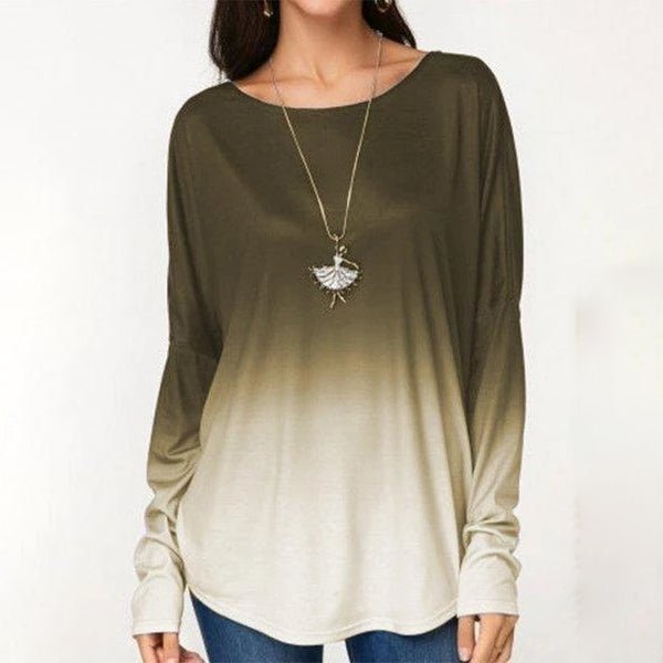 Casual Women's Loose Round Neck Long Sleeve T-Shirts