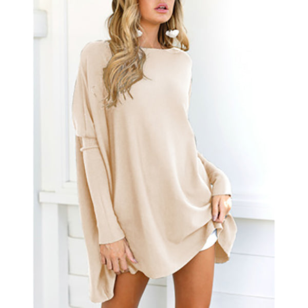 Solid Color Long Sleeve Casual Blouses