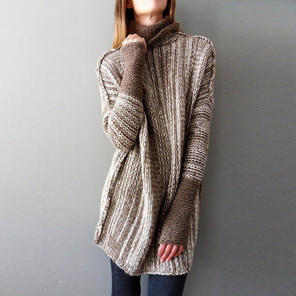 Women Loose Turtleneck Sweater