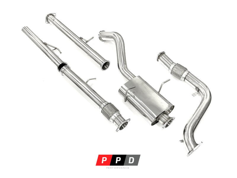 "Toyota Hilux (1995-2000) Surf KZN185 1KZ 3.0LT TD 3"" Stainless Turbo Exhaust"
