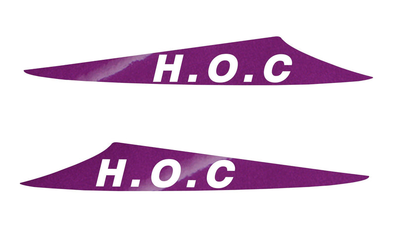 HOC Bonnet Scoop Stickers (3 FIN SCOOPS ONLY)