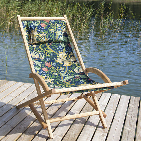 Solgunga Deck Chair with Golden Lily by Morris&Co