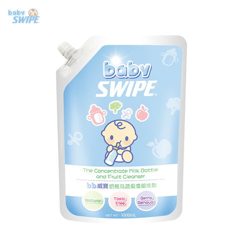 babySWIPE The Concentrate Milk Bottle and Fruit Cleanser 1000ml Pouch Pack