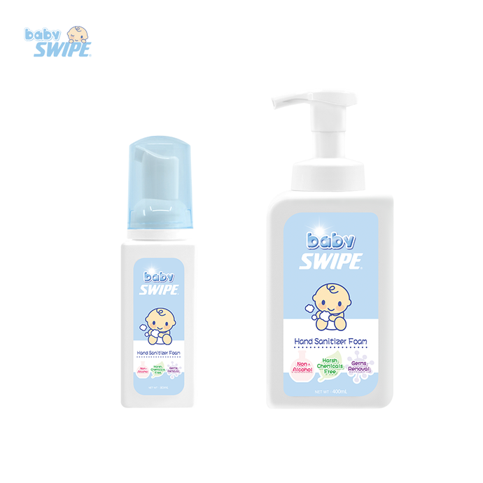 babySWIPE Hand Sanitizer Foam 400ml + 80ml