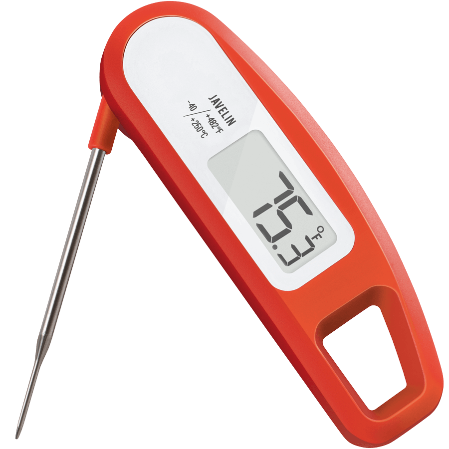The Lavatools Javelin Foldable Food And Meat Thermometer In Red Chipotle