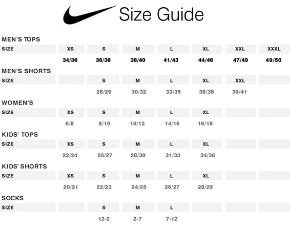 dos semanas mucho Exclusivo  nike size guide cm Shop Clothing & Shoes Online
