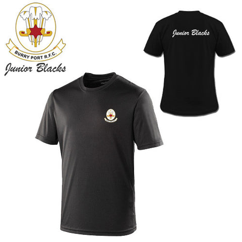 Burry Port RFC Junior Blacks: Players/Supporters COOL Tee