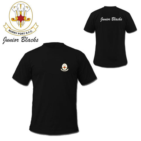 Burry Port RFC Junior Blacks: Players/Supporters CORE Tee