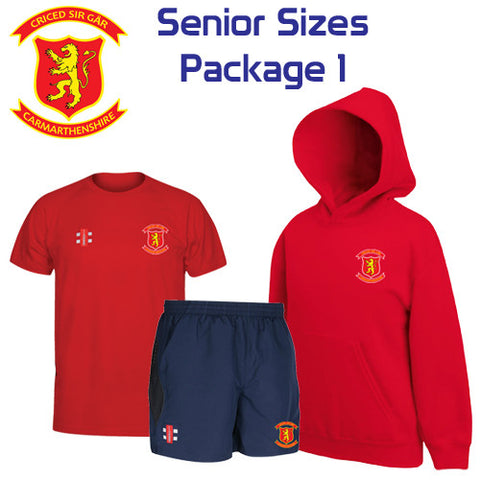 Criced Sir Gar CC: Senior Sizes Package 1