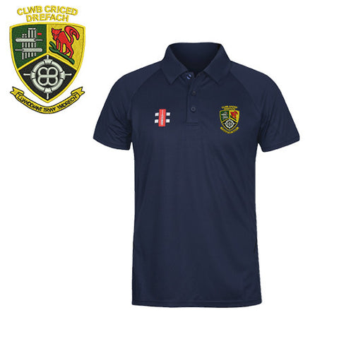 Clwb Criced Drefach: JUNIOR Gray-Nicolls NAVY Matrix Polo Shirt