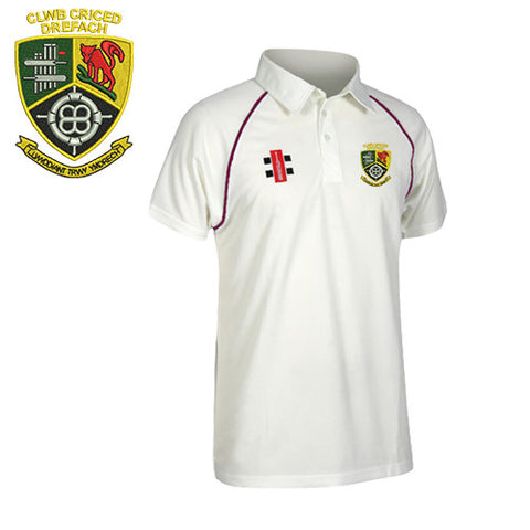 Clwb Criced Drefach: JUNIOR Gray-Nicolls Matrix Short Sleeve Playing Shirt