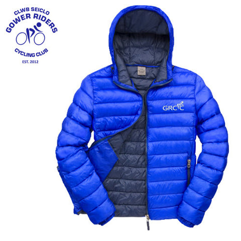 Gower Riders: Royal Blue Hooded Thermal Jacket