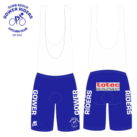 Gower Riders: Team Bib Shorts