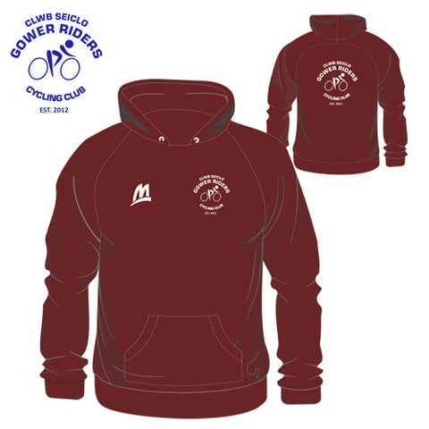 Gower Riders: Burgundy Performance Hoodie