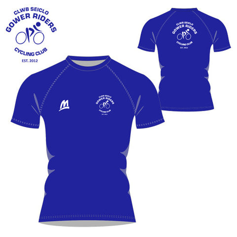 Gower Riders: Royal Blue Performance Tee