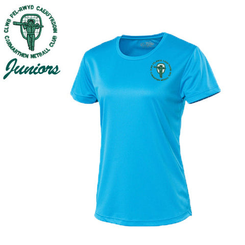 Carmarthen JUNIOR Netball: Cool SAPPHIRE T-shirt