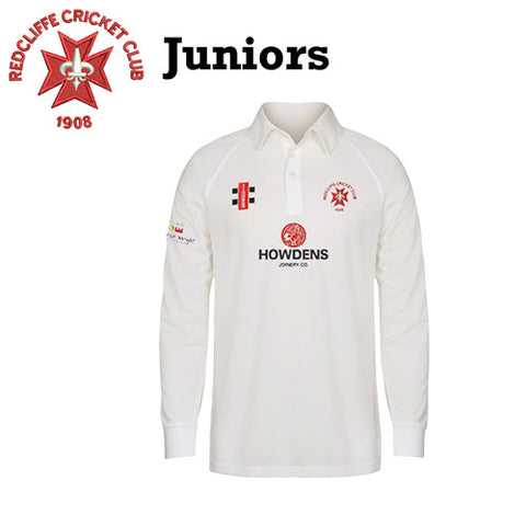 Redcliffe CC: JUNIOR Gray-Nicolls Matrix Long Sleeve Playing Shirt