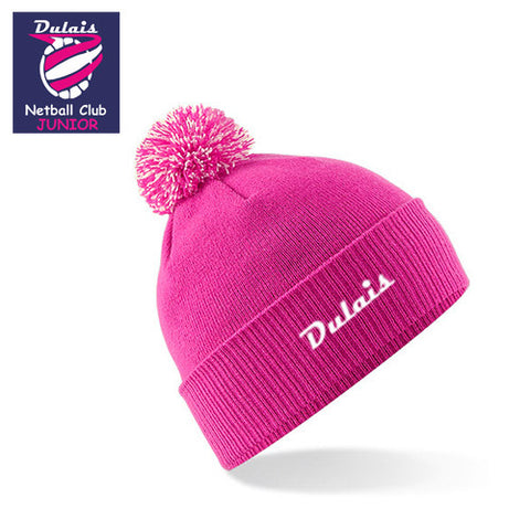 Dulais JUNIOR Netball: FUCHSIA Team Bobble Hat