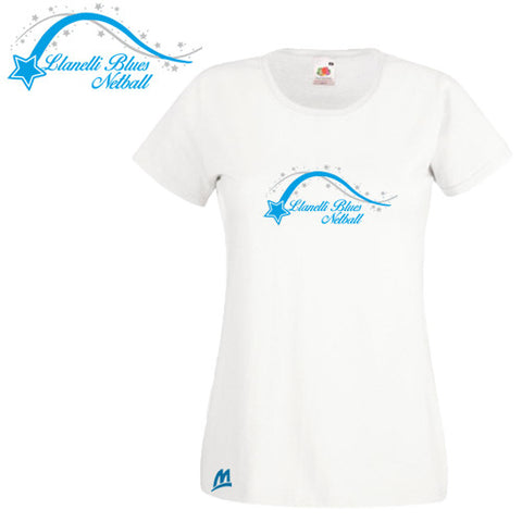 Llanelli Blues Netball: Fitted Cotton T-shirt