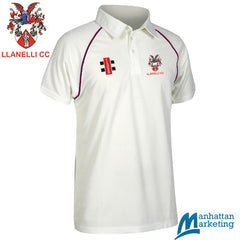 Llanelli CC: Gray-Nicolls Matrix Short Sleeve Playing Shirt