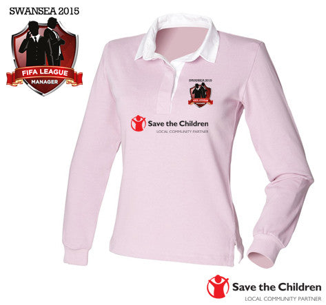 FIFA League Manager SWANSEA 2015 - Save The Children: Ladies Original Rugby Shirt