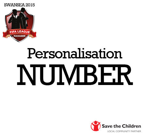 FIFA League Manager SWANSEA 2015 - Personalisation NUMBER