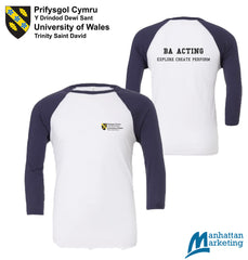 UWTSD BA Acting: 3/4 Sleeve Tee