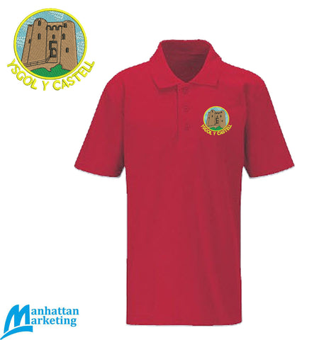 Ysgol Y Castell: Red Polo Shirt