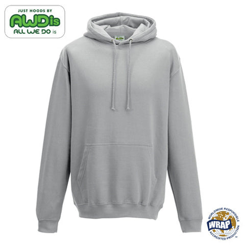 AWDis College Hoodie: HEATHER GREY