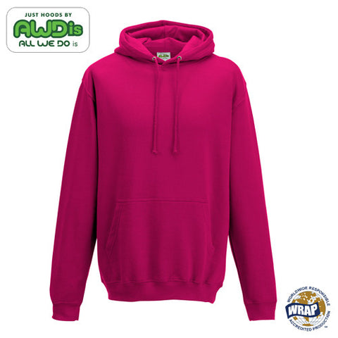 AWDis College Hoodie: HOT PINK