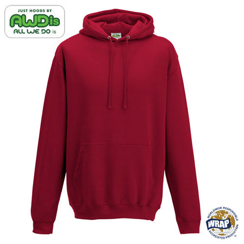 AWDis College Hoodie: RED HOT CHILLI