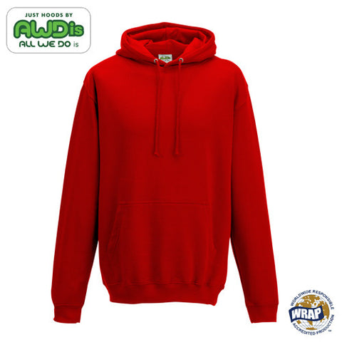 AWDis College Hoodie: SUNSET RED