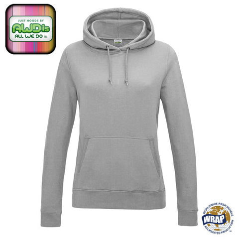 AWDis Girlie College Hoodie: HEATHER GREY