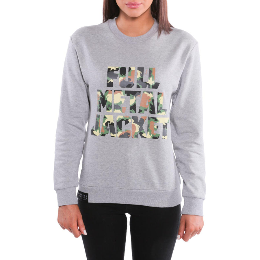 Full Metal Jacket, Grey, Camo Title Women's Sweatshirt, with Stanley Kubrick Collector's Box