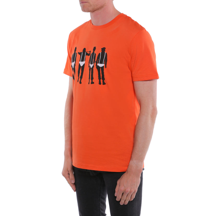 A Clockwork Orange, Orange, The Droogs Men's T-Shirt, with Stanley Kubrick Collector's Box