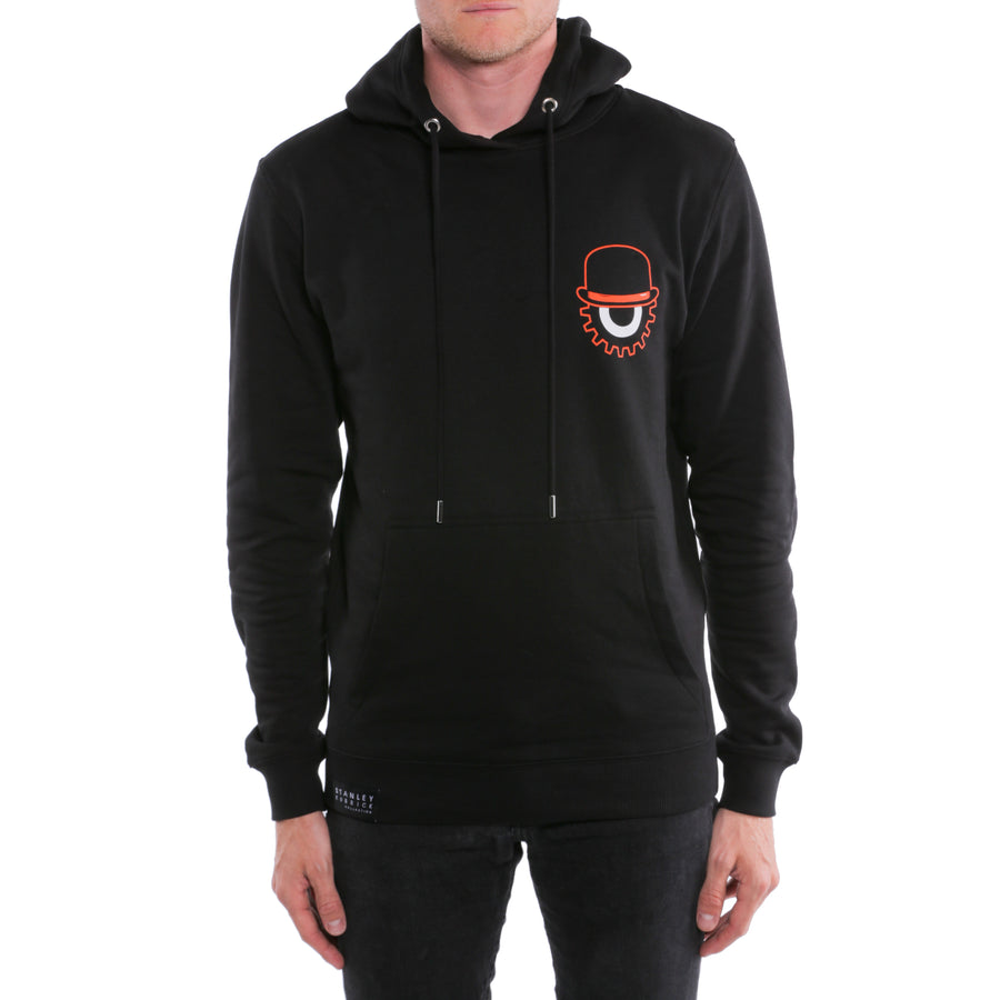 A Clockwork Orange, Black, Bowler print Men's Hoodie, with Stanley Kubrick Collector's Box