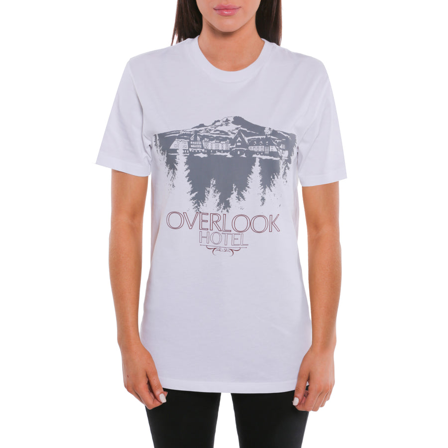 The Shining, White, Overlook Hotel Women's T-Shirt, with Stanley Kubrick Collector's Box