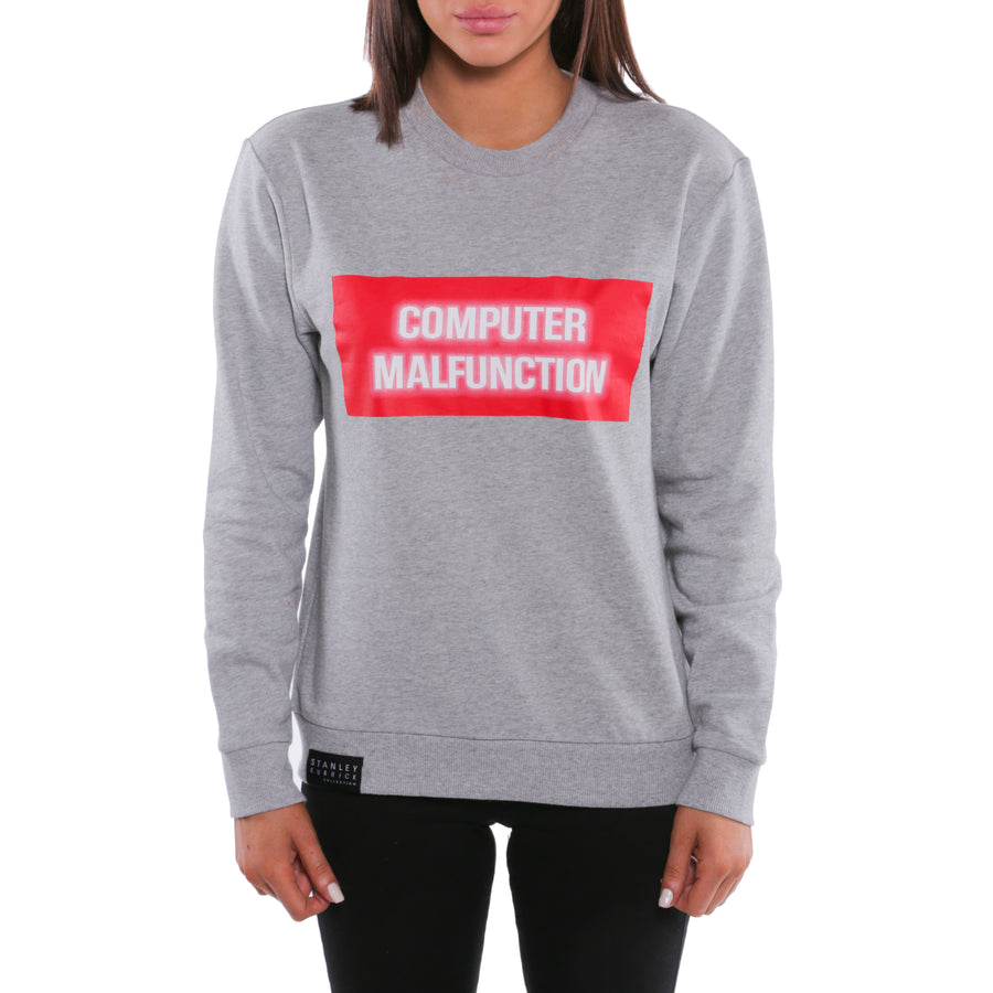 2001: A Space Odyssey, Grey, Computer Malfunction Women's Sweatshirt, with Stanley Kubrick Collector's Box